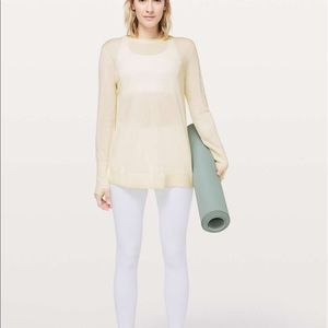 Lululemon Still At Ease Pullover Angel Wing Size10